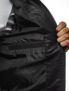 Мъжко кожено яке ''Рок'' - черно