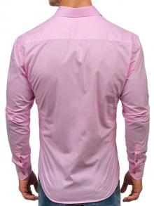 Нов модел мъжка риза в Пастелено-розов цвят 2019