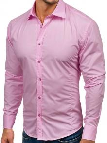 Нов модел мъжка риза в Пастелено-розов цвят 2018