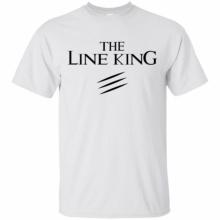 """Мъжка тениска """"Line King"""" модел 2019 - бяла"""