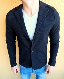 Спортно-елегантно сако черно Карло