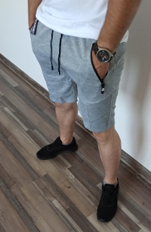 Мъжки шорти ''Gomes'' - светло сиви