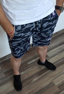 Мъжки камуфлажни шорти ''Run'' - сини
