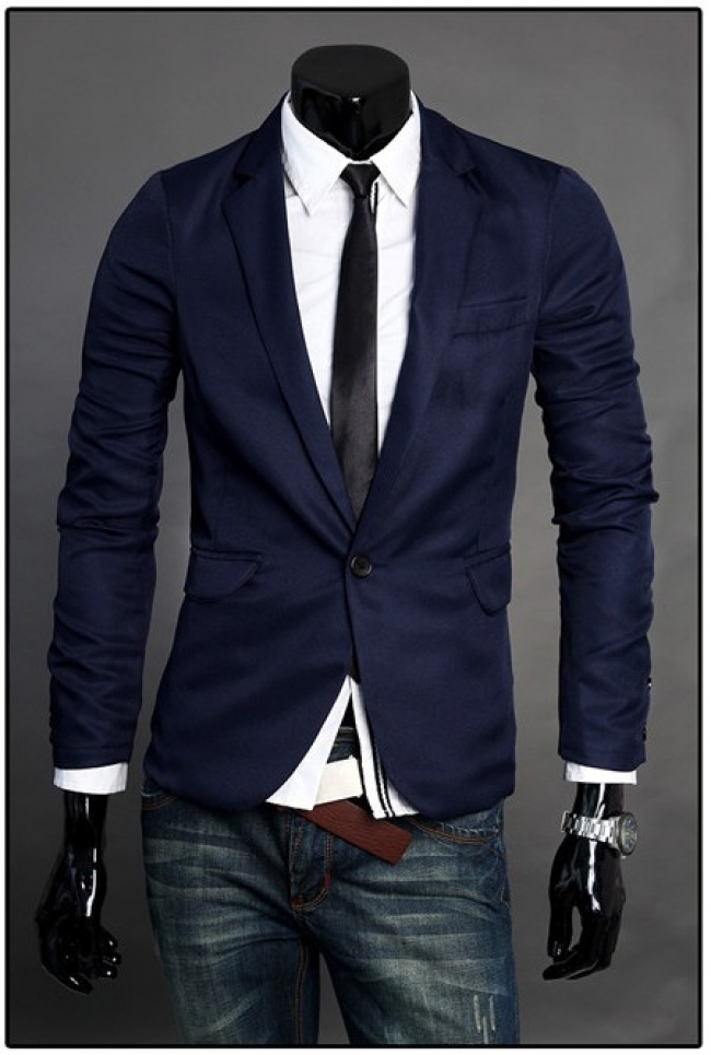 Стилно мъжко сако синьо супер качество !