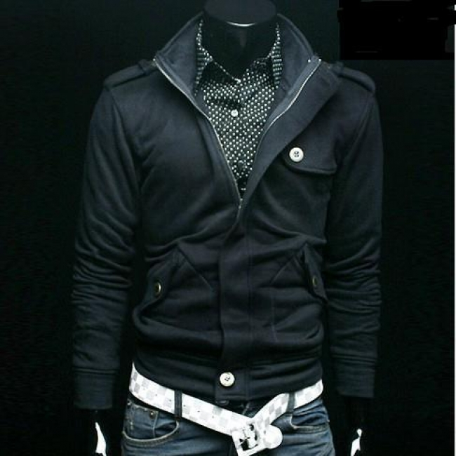 Черно мъжко яке