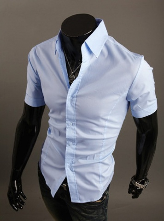Стилна мъжка риза с къс ръкав