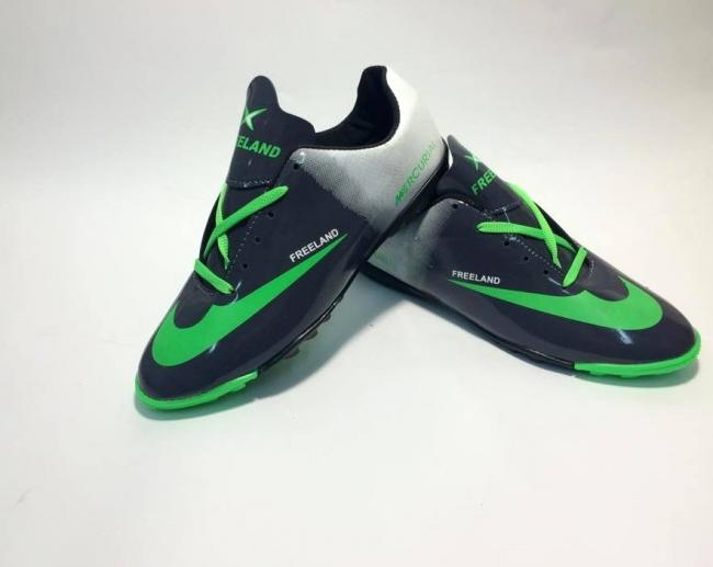 """Ежедневни спортни обувки """" Mercurial BLACK and GREEN"""""""