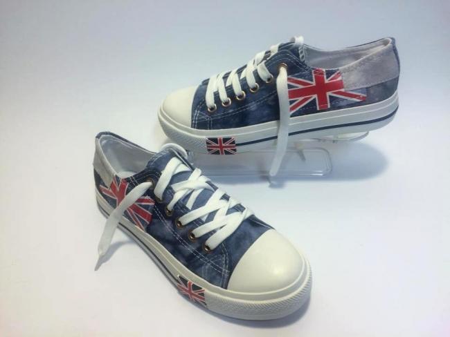 Мъжки кецове UK Флаг супер качество ! Код: F99 Blue