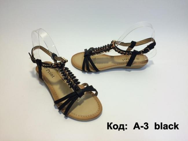 Черни сандали с орнаменти Код: А-3 Black