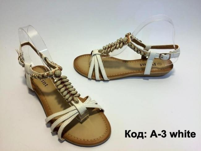 Летни сандали с орнаменти Код: А-3 White