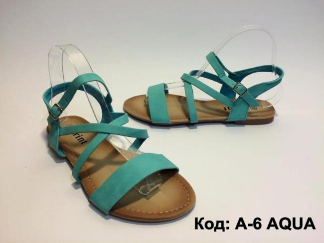 Дамски сандали аква цвят код: A-6 Aqua