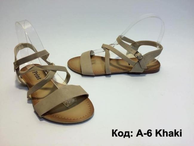 Нов модел летни сандали Код: А-6 Khaki