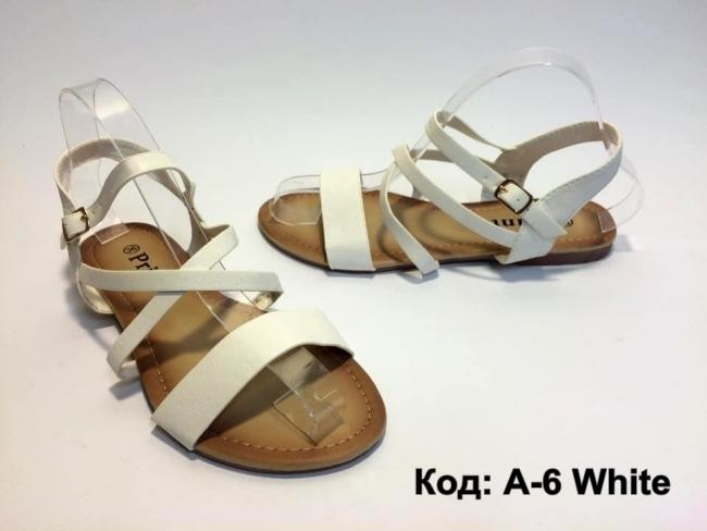 Бели летни сандали страхотен модел Код: А-6 White