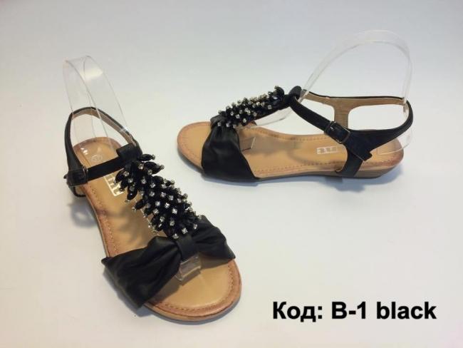 Отворен модел летни сандали код : B-1 Black