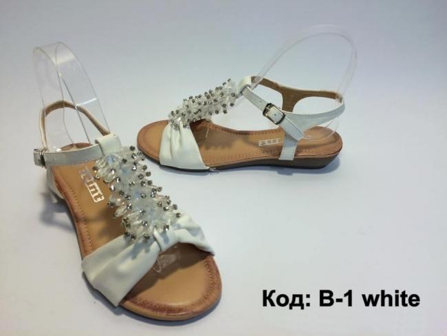 Отворен модел летни сандали код : B-1 White