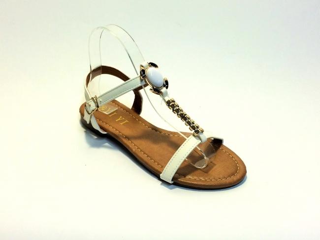 Нов модел дамски сандали Бели Код: C-3 White