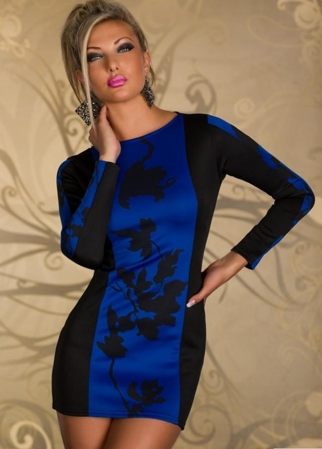 """Ежедневна дамска рокля """"Ани"""" Синя"""