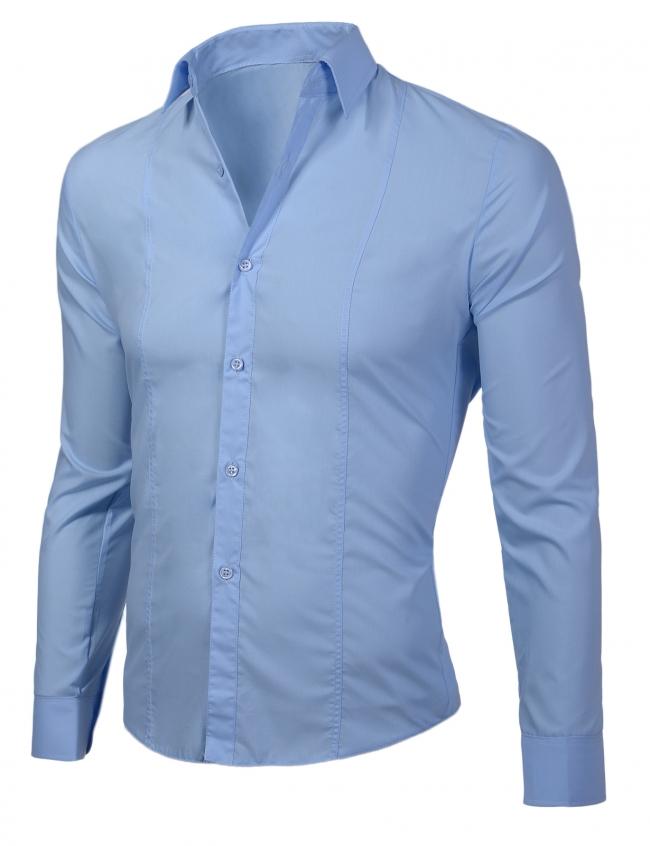 Класическа светло синя риза