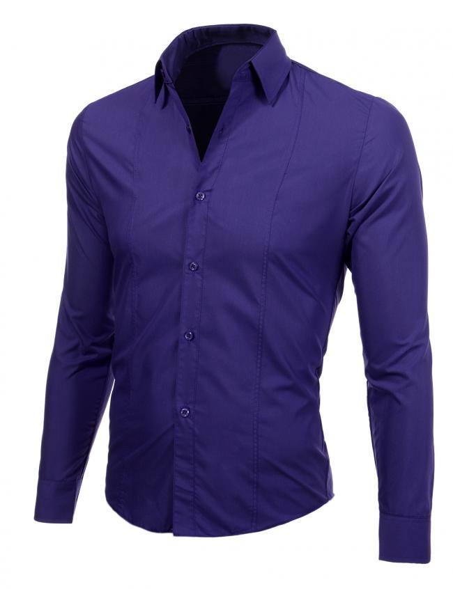 Луксозна лилава мъжка риза Втален модел ПРОМО !