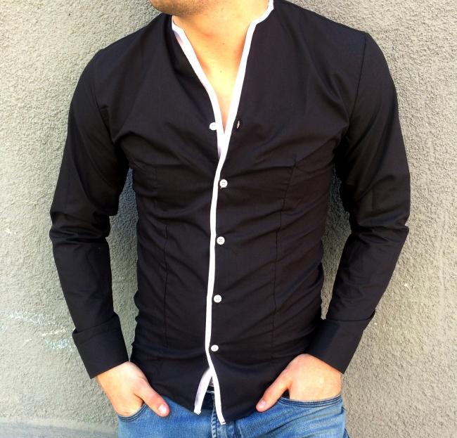 Страхотна мъжка риза без яка