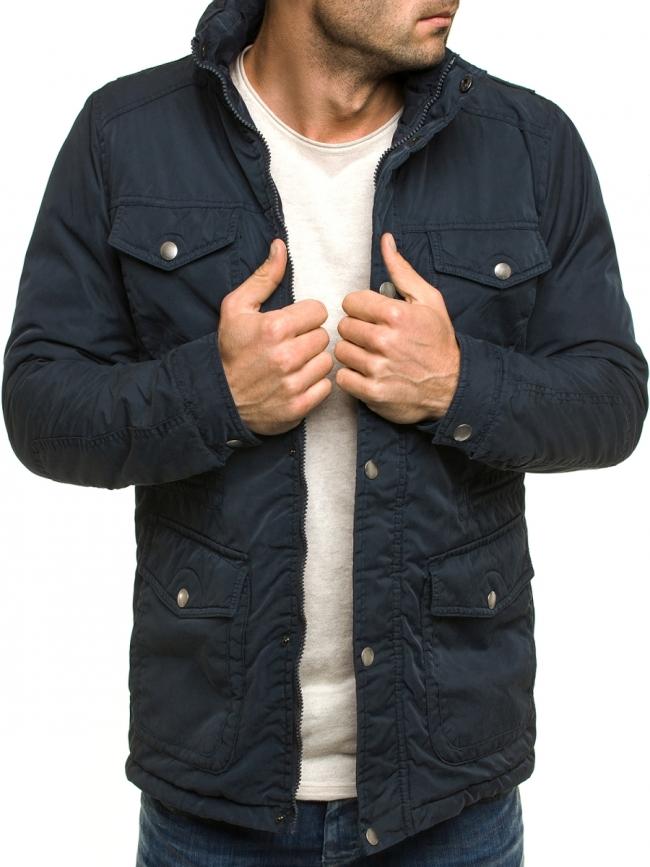 Стилно мъжко яке Матс - синьо