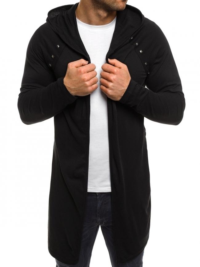 НОВО ! Издължено мъжко горнище  с капси тип блуза модел 2017г.