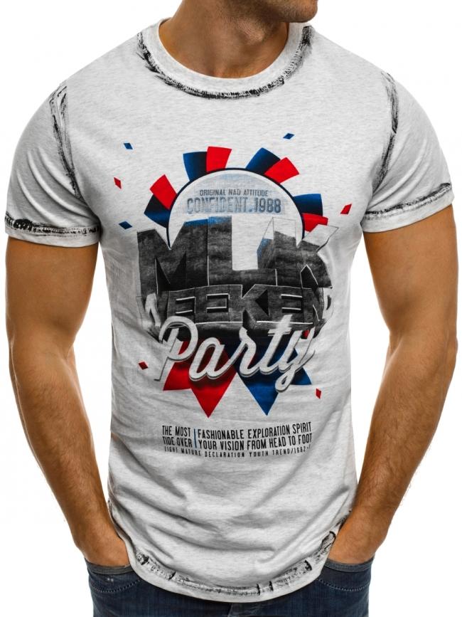 """Мъжка тениска """"Weekend"""" - сива"""