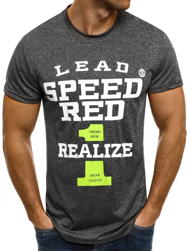 """Мъжка тениска """"Speed"""" - графит"""