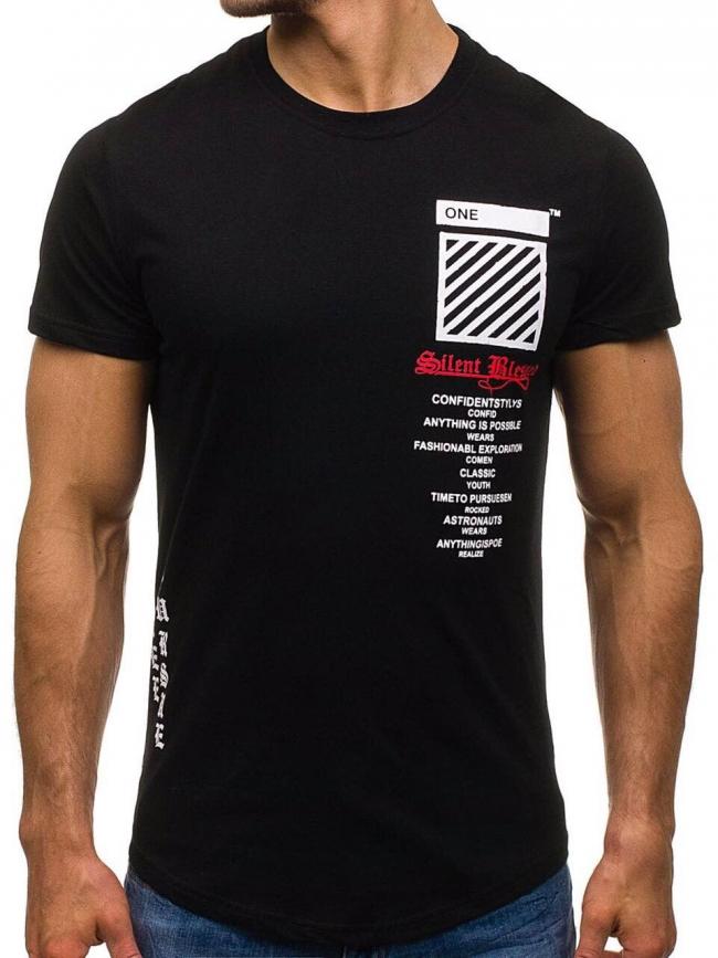 """Мъжка тениска """"Blessed"""" - черна"""