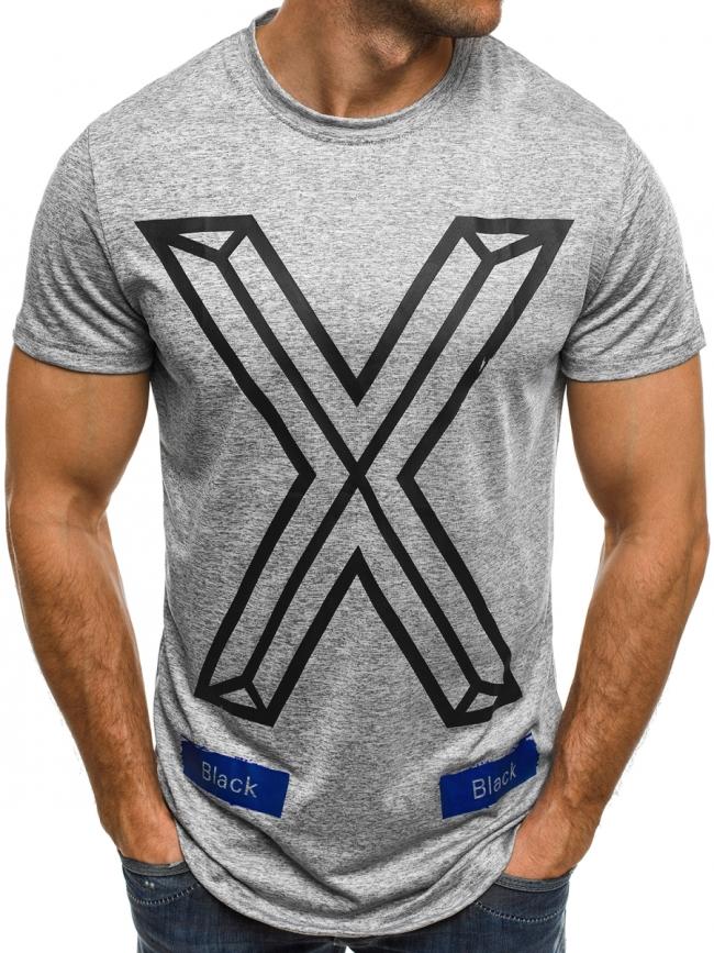 Мъжка тениска ''The X'' - сива