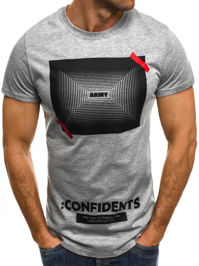 Мъжка тениска ''Army'' - сива