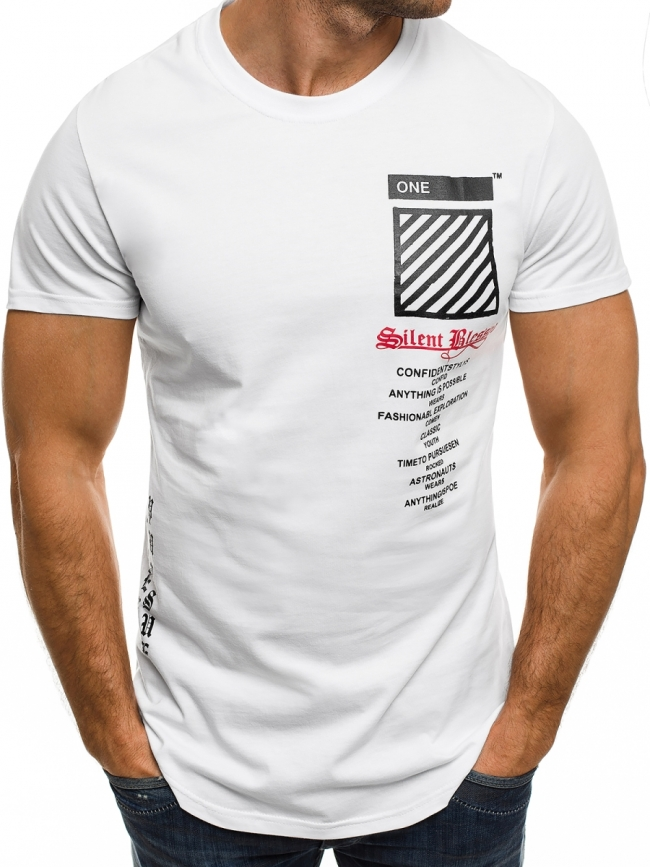 """Мъжка тениска """"Blessed"""" - бяла"""