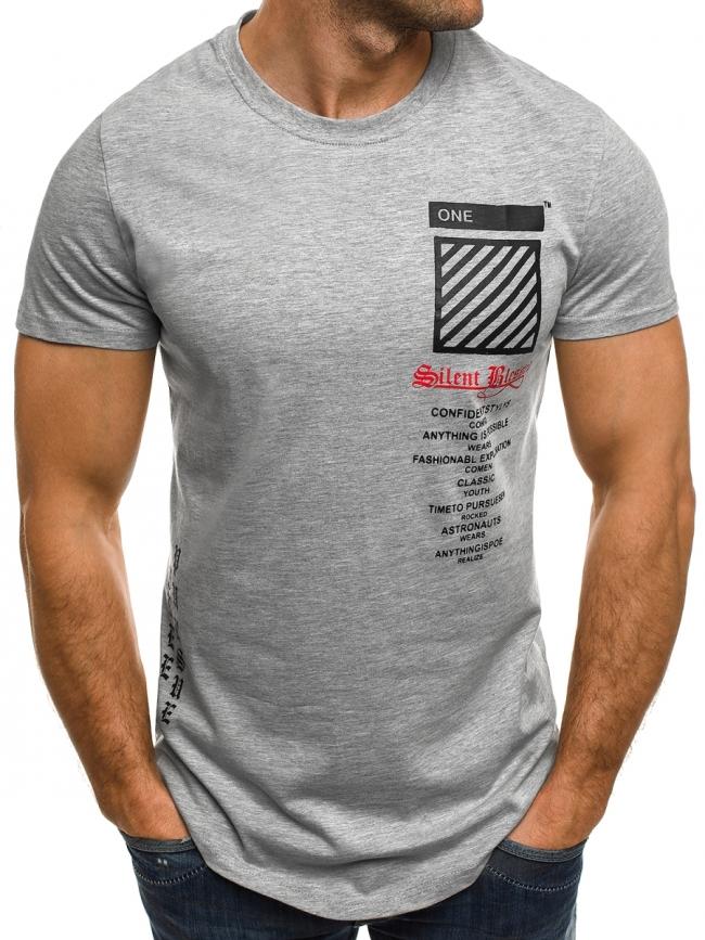 """Мъжка тениска """"Blessed"""" - сива"""