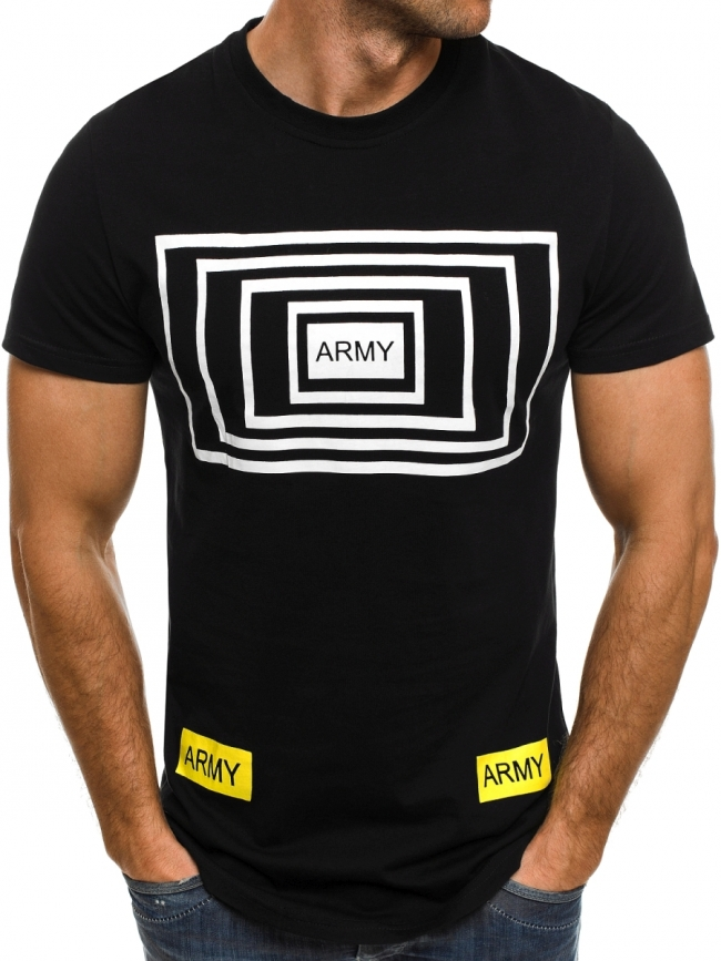 Мъжка тениска Army - черна