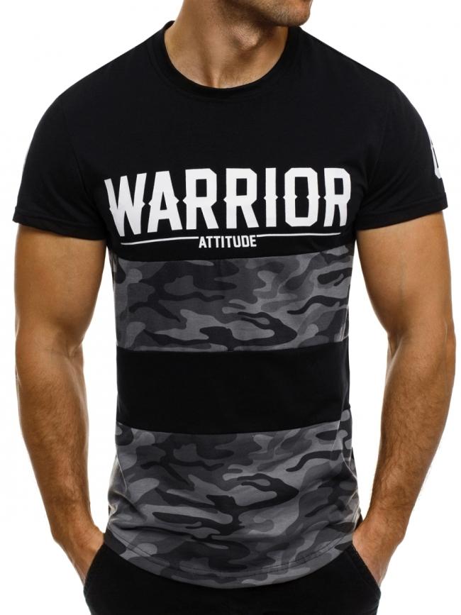 Мъжка тениска ''Warrior'' черна