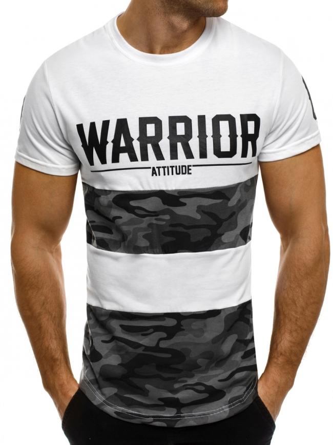 Мъжка тениска ''Warrior'' бяла