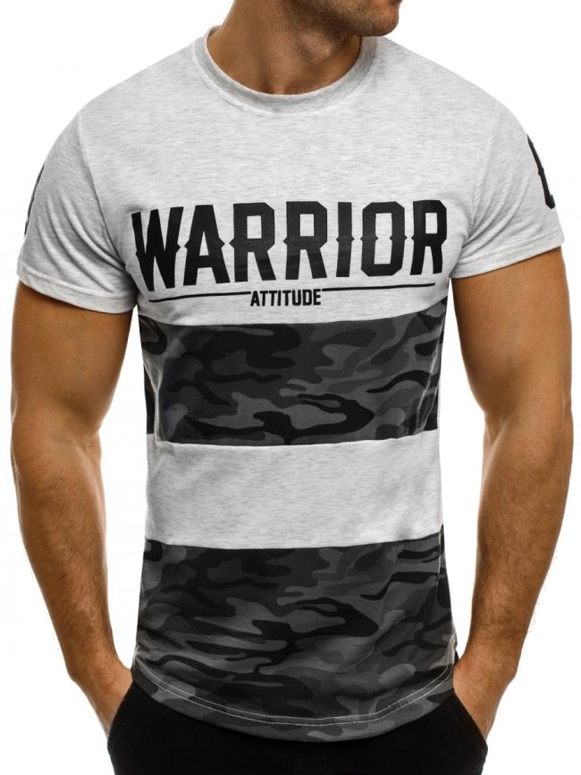 Мъжка тениска ''Warrior'' сива