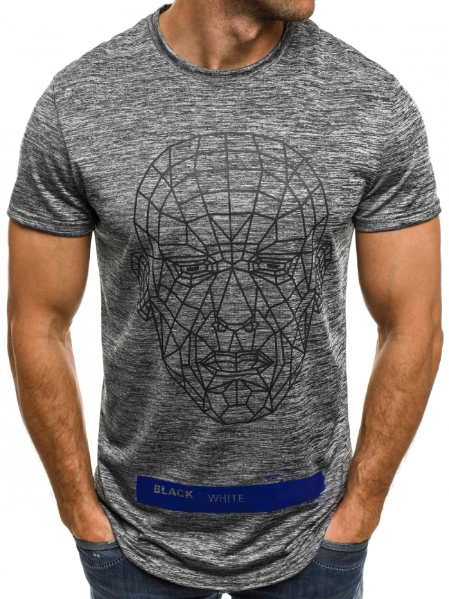 Мъжка тениска ''Last'' - тъмно сива