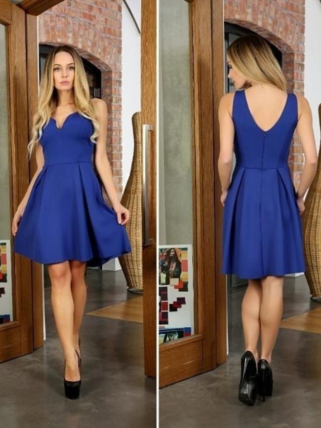 Тъмно синя къса рокля ''Марая''