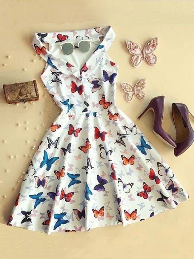 Къса рокля - ''Цветни пеперуди''