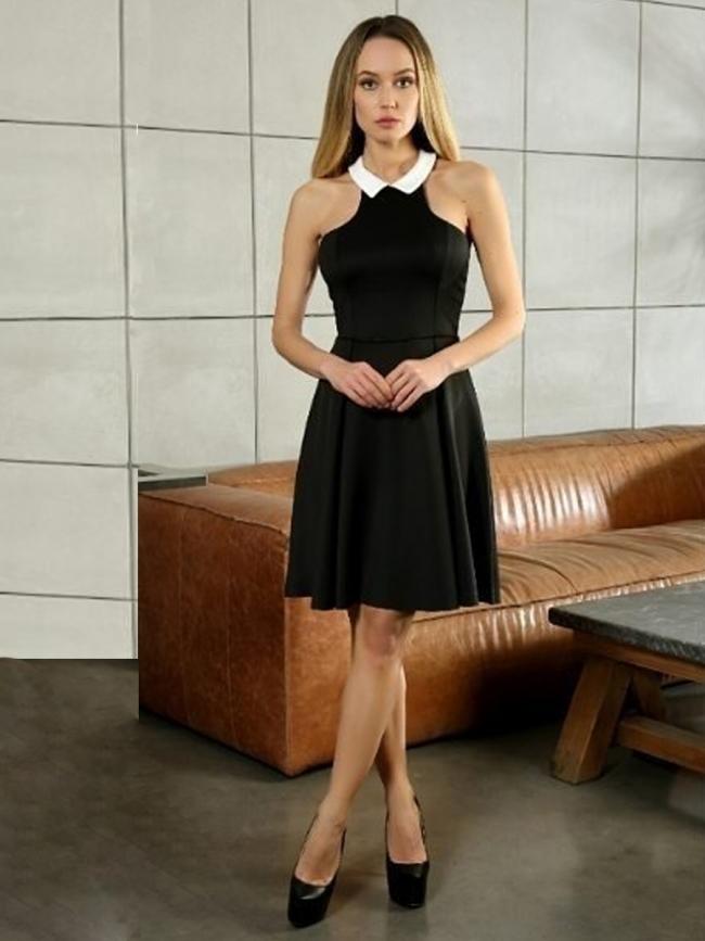 """Дамска рокля в черен цвят """"Кремен''"""