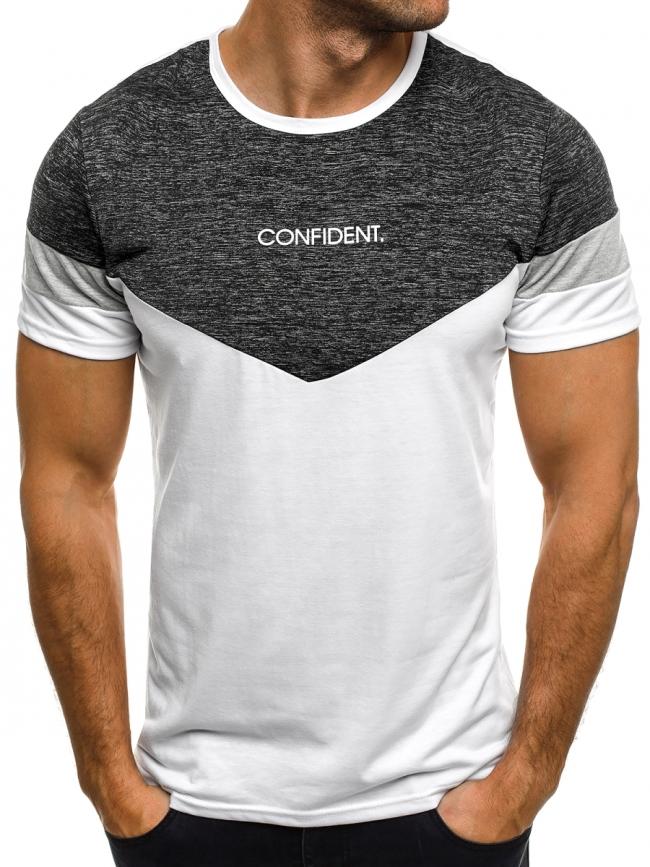 Мъжка тениска ''Confident'' - бяла
