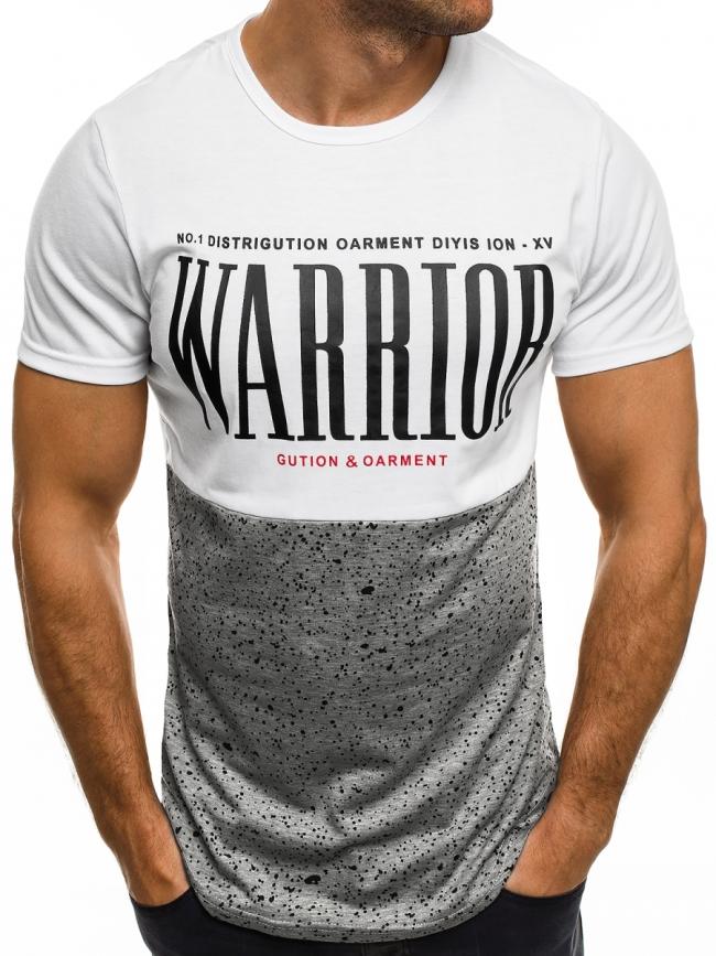 Мъжка тениска Gution&Oarment - бяла