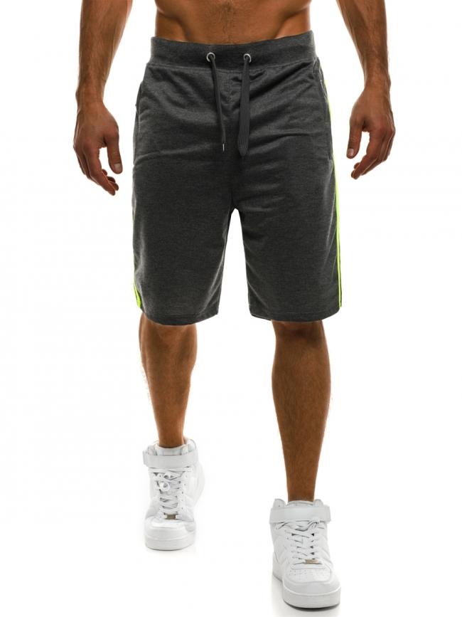 ПРОМО! Мъжки шорти Sport - тъмно сиви