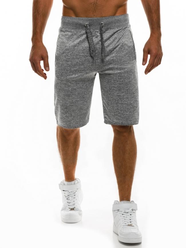 ПРОМО! Мъжки шорти SHOW - светло сиви