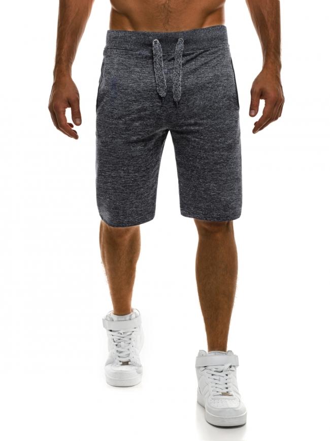 Мъжки шорти SHOW - тъмно сиви