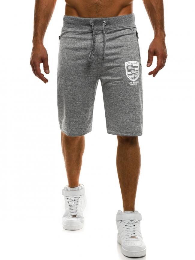 Мъжки шорти VITALITY - светло сиви
