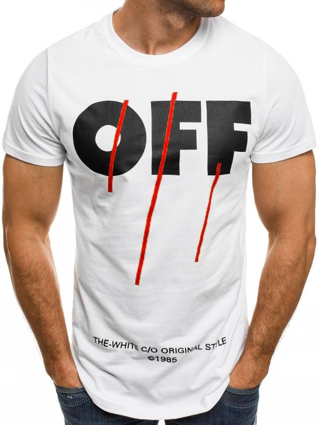 Бяла мъжка тениска ''OFF''