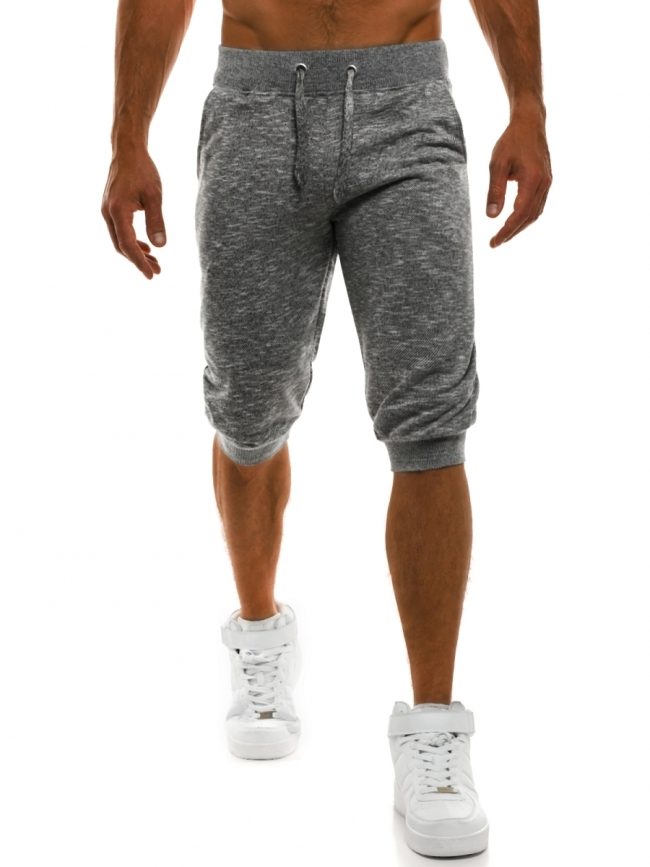 Мъжки шорти Run - тъмно сиви