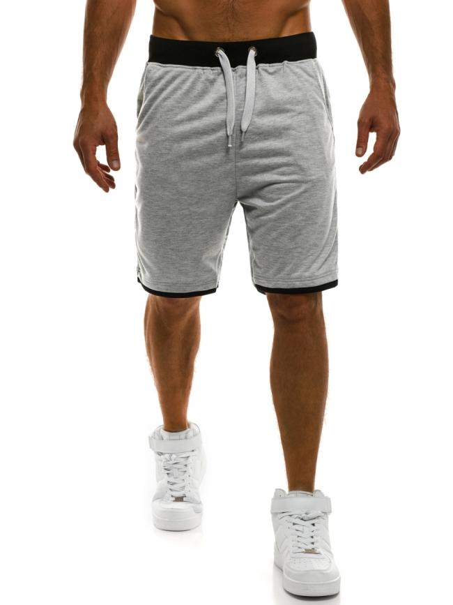 Мъжки шорти Poison - светло сиви